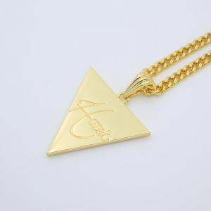 Hip Hop Club Triangle Letter Pendant Necklace -