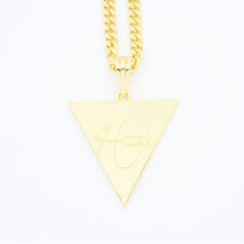 Discount Hip Hop Club Triangle Letter Pendant Necklace
