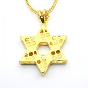 European and American Jewish Symbol Star Pendant Necklace -