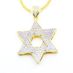 European and American Jewish Symbol Star Pendant Necklace - GOLDEN