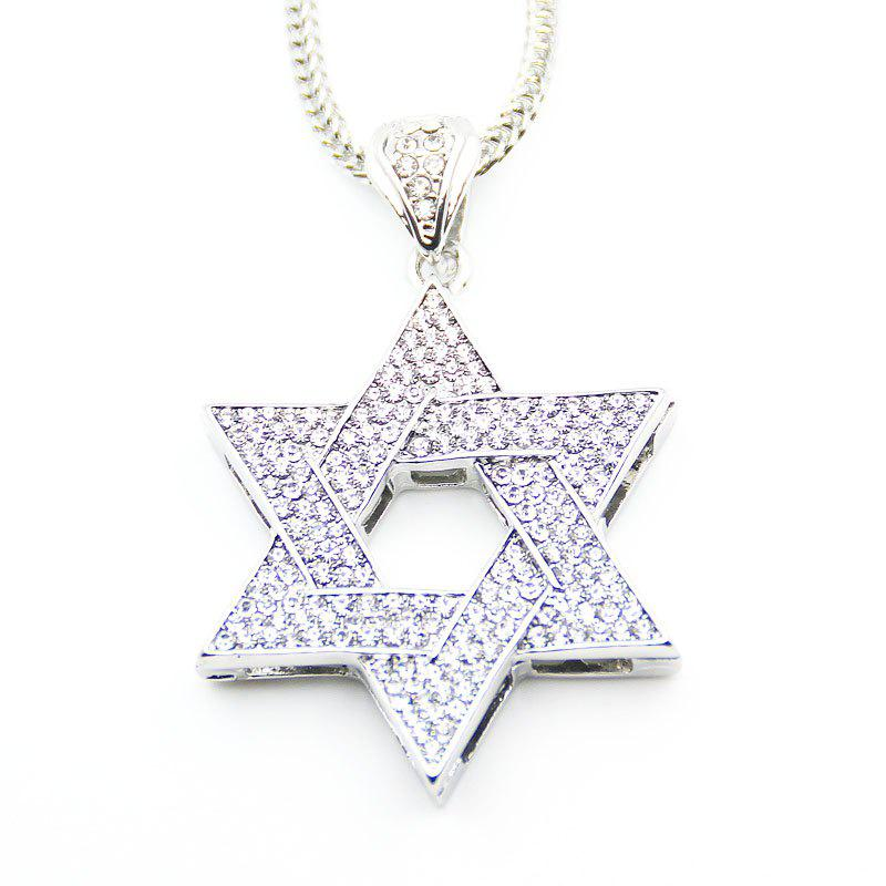 Online European and American Jewish Symbol Star Pendant Necklace