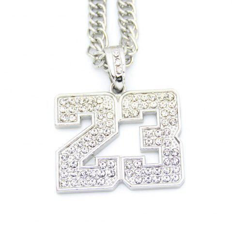 Cheap Hip Hop Necklace Textured Digital Pendant Necklace