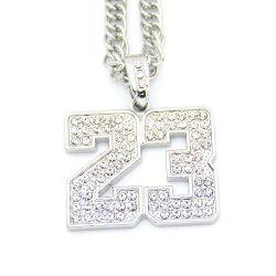 Hip Hop Necklace Textured Digital Pendant Necklace -