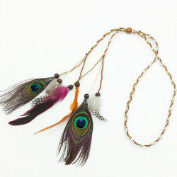 Tb020006 Feather Headdress Feather Hair Band Peacock Feather Head Hair with Indian Bohemian National Wind Hair Hair Rope -
