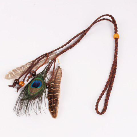 Tb02001202 Europe and The United States Indian Popular Feather Hair Band Feather Headdress Feather Hair Trim Headband