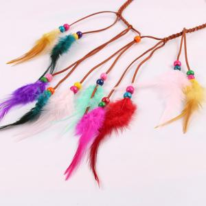 Europe and The United States Popular Hair Band Color Feather Headband Travel Headdress Hairpin Bohemian Headband -