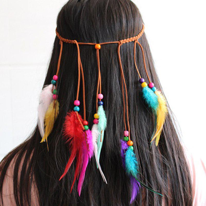 Europe and The United States Popular Hair Band Color Feather Headband Travel Headdress Hairpin Bohemian Headband 231690301