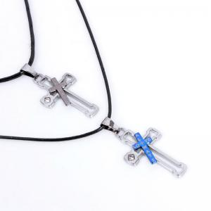 Hollow Out Cross Pendant Couples Necklace -