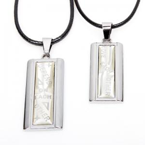 Rain Shade for You Fashion Lovers Couple Necklace 2 Pcs/Lot - SILVER WHITE 1001A#