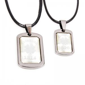 Love You 1314 Lucky Grass Couple Pendant Necklace 2 Pcs/Lot -