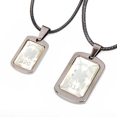 Best Love You 1314 Lucky Grass Couple Pendant Necklace 2 Pcs/Lot