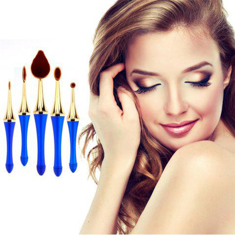 New GANJOY-Five Pack Toothbrush Cosmetic Brush New High-End Touch Paint - BLUE AND GOLDEN  Mobile
