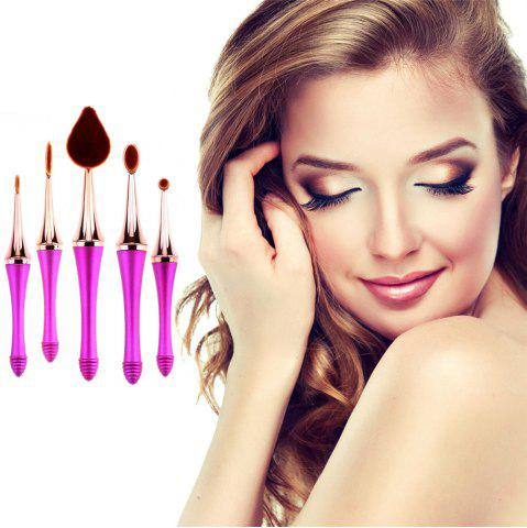 Trendy GANJOY-Five Pack Toothbrush Cosmetic Brush New High-End Touch Paint - ROSE GOLD  Mobile