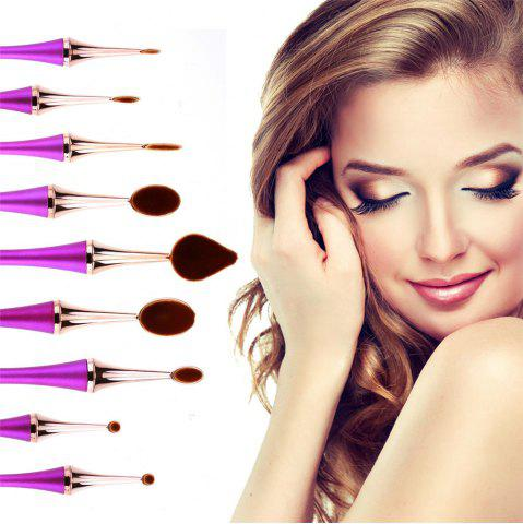 Cheap GANJOY- Nine Pack Toothbrush Cosmetic Brush New High-End Touch Paint - ROSE GOLD  Mobile