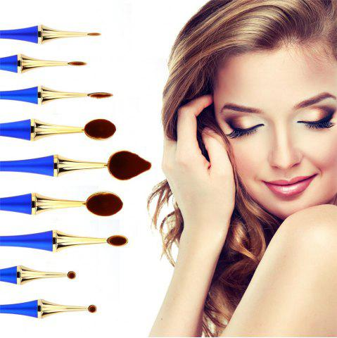 Sale GANJOY- Nine Pack Toothbrush Cosmetic Brush New High-End Touch Paint BLUE AND GOLDEN