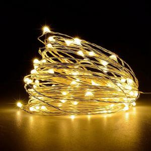10M 100-LED Silver Wire Strip Light USB Power Supply Fairy Lights Garlands Christmas Holiday Wedding Party 1PC - WARM WHITE LIGHT