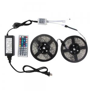 KWB LED Strip Light 5050SMD 150-LED 5M Waterproof with 44 Key IR Controller 6A Power Supply AC100 - 240V 2PCS -