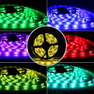 KWB LED Strip Light 5050SMD 150-LED 5M Waterproof with 44 Key IR Controller 6A Power Supply AC100 - 240V 2PCS - RGB NON WATERPROOF US PLUG