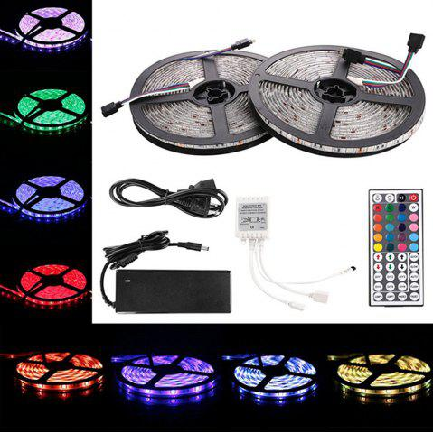 Fashion KWB LED Strip Light 5050SMD 150-LED 5M Waterproof with 44 Key IR Controller 6A Power Supply AC100 - 240V 2PCS RGB WATERPROOF EU PLUG