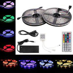 KWB LED Strip Light 5050SMD 150-LED 5M Waterproof with 44 Key IR Controller 6A Power Supply AC100 - 240V 2PCS - RGB WATERPROOF EU PLUG