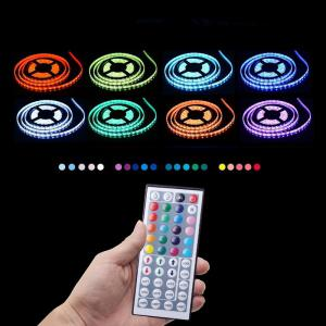 KWB LED Strip Light 5050SMD RGB 300-LED 10M with 44 Key Controller and 6A Adapter - RGB WATERPROOF US PLUG