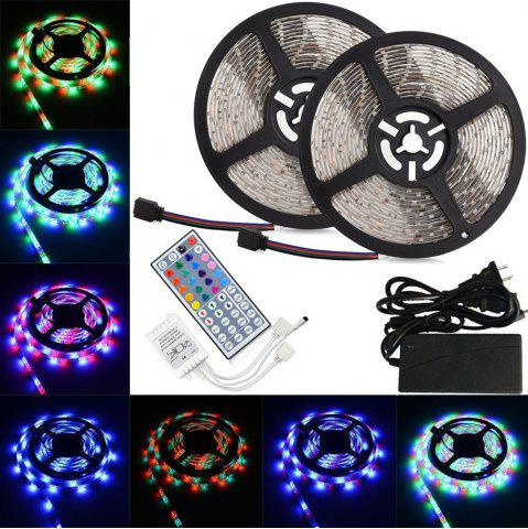 Fashion KWB LED Strip Light 5050SMD RGB 300-LED 10M with 44 Key Controller and 6A Adapter - NON WATERPROOF US PLUG RGB Mobile