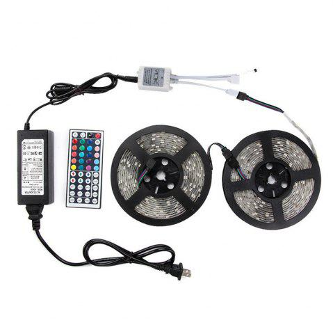 Fashion KWB LED Strip Light 5050SMD RGB 300-LED 10M with 44 Key Controller and 6A Adapter