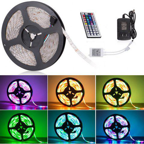 Affordable KWB LED Strip Light 2835 SMD 16.4FT 12V Multiple Color Changing RGB 300 Units with 44 Keys IR Remote Controller RGB NON WATERPROOF US PLUG