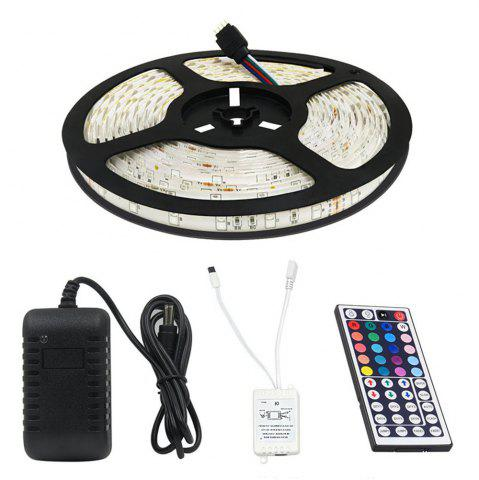 Fancy KWB LED Strip Light 2835 SMD 16.4FT 12V Multiple Color Changing RGB 300 Units with 44 Keys IR Remote Controller