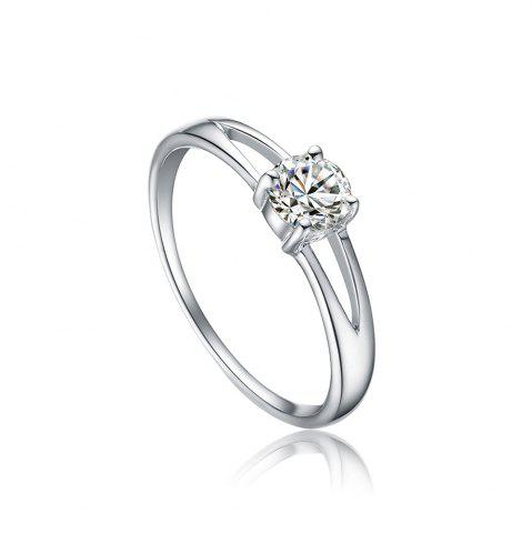 Discount Sh Starharvest 925 Sterling Silver Rings with Prong Setting Solitaire for Female - 6 SILVER Mobile