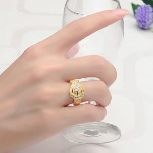 Sh Starharvest 925 Sterling Silver Ring Gold Plated with Incredible Jewelry Design - GOLDEN 8