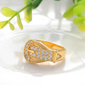 Sh Starharvest 925 Sterling Silver Ring Gold Plated with Incredible Jewelry Design - GOLDEN 7