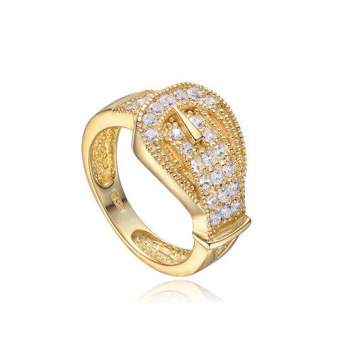 Affordable Sh Starharvest 925 Sterling Silver Ring Gold Plated with Incredible Jewelry Design GOLDEN 8
