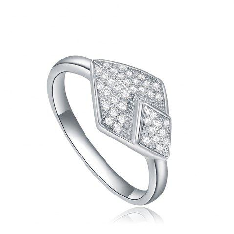 Sale Starharvest 925 Sterling Silver Ring Affordable Micro Pave Braided - 5 SILVER Mobile