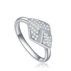 Starharvest 925 Sterling Silver Ring Affordable Micro Pave Braided -