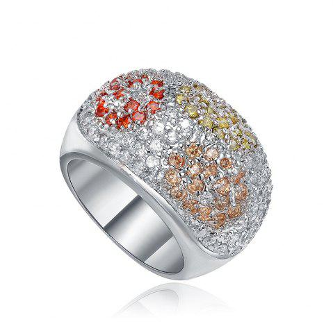 Trendy Sh Starharvest 925 Sterling Silver rings Engagement with Many Colorful Cz Stones