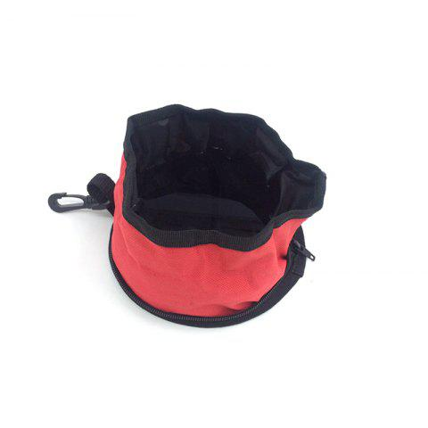 Outfit Lovoyager Vb15021 Pet Dog Feeding Folding Collapsible Travel Food Dish Water Bowl - S RED Mobile