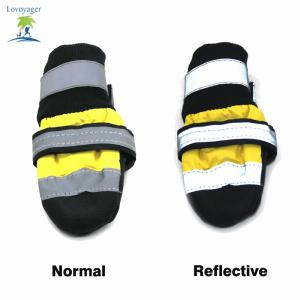 Lovoyager VSS14003 Waterproof Pet Rain Shoes Lightweight Dog Reflective Warm Straps Puppy Walking Boots - YELLOW XL/2XL