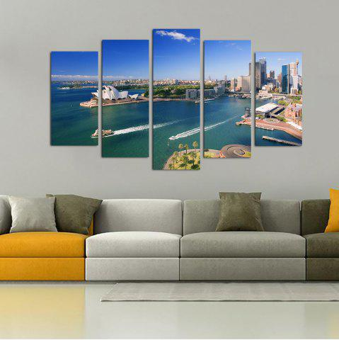 Online YHHP 5 Panels Sydney Opera House Scenery Picture Print Wall Art on Canvas Unframed