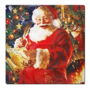 DIHE Christmas Series Pillow Cover with Santa Claus Desire Flannel Material -