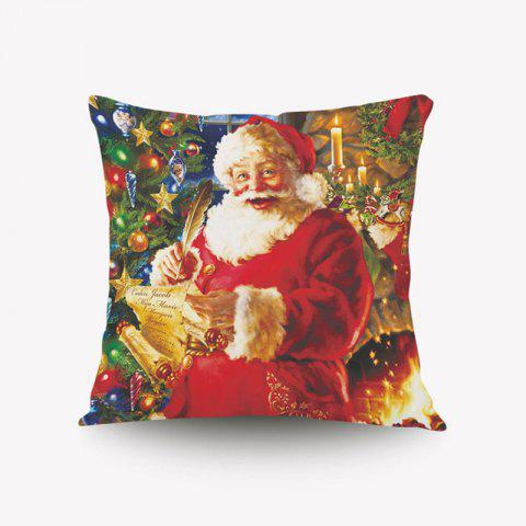 DIHE Christmas Series Pillow Cover With Santa Claus Desire Flannel Material