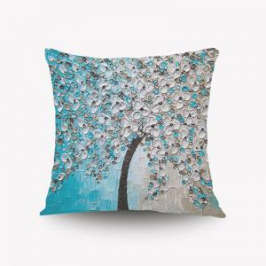 DIHE Set of 6 The Three-dimensional Painting Style 3D Flowers Pattern Painting Flannel Pillow Cover - 混合色(COLORMIX)
