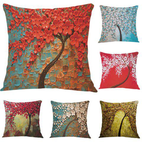 Cheap DIHE Set of 6 The Three-dimensional Painting Style 3D Flowers Pattern Painting Flannel Pillow Cover 混合色(COLORMIX)