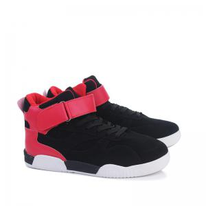 Canvas Shoes Casual Board Shoes High To Help Sports Shoes Fall Trend Students Wild - BLACK&RED 41