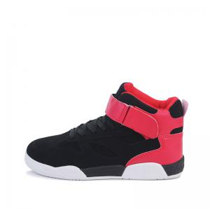 Canvas Shoes Casual Board Shoes High To Help Sports Shoes Fall Trend Students Wild - BLACK&RED 39