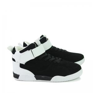 Canvas Shoes Casual Board Shoes High To Help Sports Shoes Fall Trend Students Wild - BLACK WHITE 39