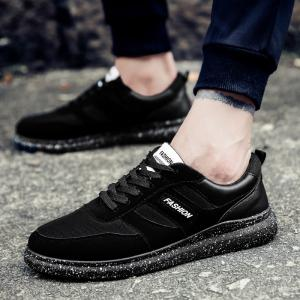 Men'S Shoes Fall Sports Shoes Board Shoes Mesh Shoes Breathable Canvas Shoes - BLACK 43
