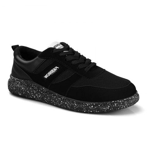 Outfits Men'S Shoes Fall Sports Shoes Board Shoes Mesh Shoes Breathable Canvas Shoes BLACK 43