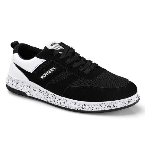 Discount Men'S Shoes Fall Sports Shoes Board Shoes Mesh Shoes Breathable Canvas Shoes BLACK WHITE 40