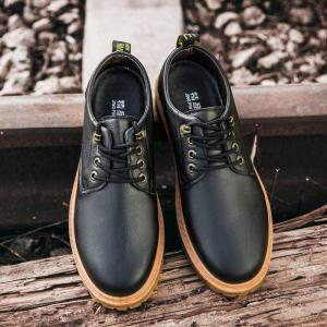 Fall British Boots Men Casual Shoes Breathable Board Shoes Boots Martin Boots -
